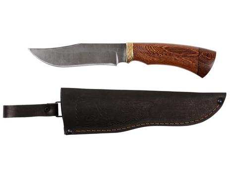 Нож Клык  (дамаск, рукоять венге)
