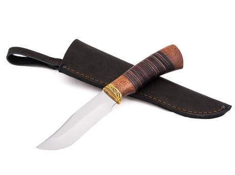 Нож Клык  (сталь 95Х18, рукоять венге, кожа)