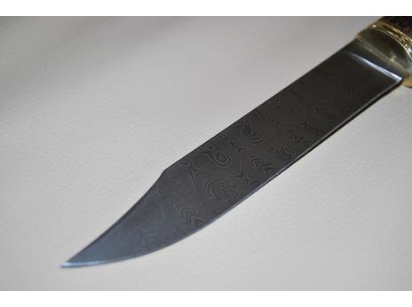 Нож Щука (дамаск, рукоять венге)