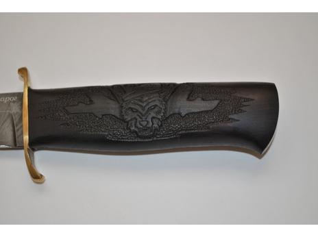 Нож Непобежденный (дамаск, рукоять граб)