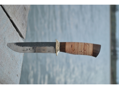 Нож Лиса (сталь Х12МФ ручная ковка, рукоять венге, береста)