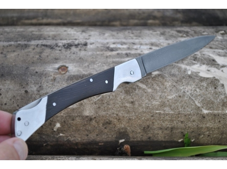 Складной нож 5 (сталь ХВ5, граб)