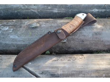 Нож Клык (сталь Х12МФ, рукоять береста)
