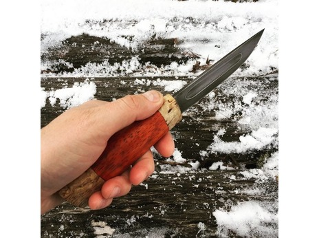 Нож Якутский (сталь хв5, рукоять карельская береза, падук)