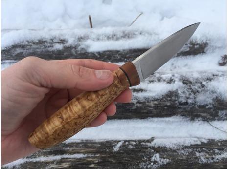 Нож Егерь (сталь N690, рукоять карельская береза)