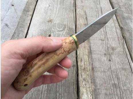 Нож Сурок (elmax, рукоять стабилизированная карельская береза)