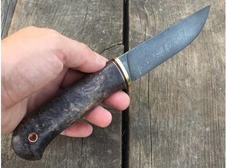 Нож Сурок  (сталь Х12МФ, рукоять стабилизированная карельская береза)