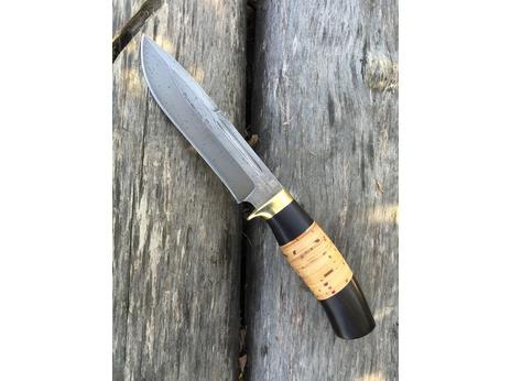 Нож Сурок(сталь хв5, рукоять граб, береста)