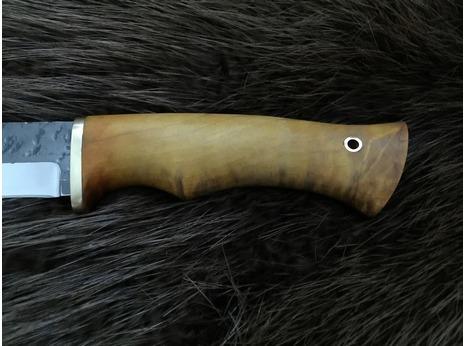 Нож Лиса (сталь 95Х18, ручная ковка, рукоять дуб)