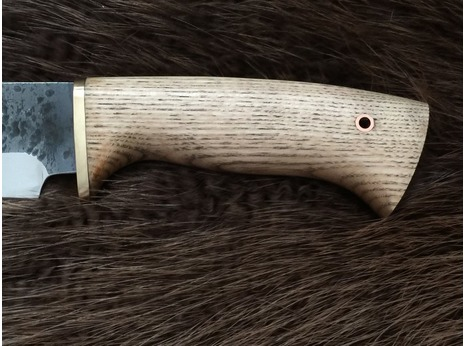 Нож Таежный (сталь 95Х18, ручная ковка, рукоять дуб)
