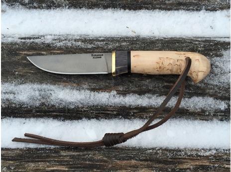 Нож Егерь (Х12МФ, рукоять карельская береза)