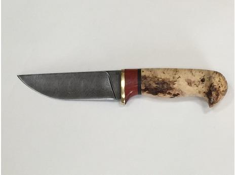 Нож Егерь (дамаск, рукоять карельская береза)