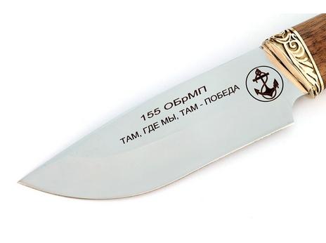 Нож Таежный (сталь 65Х13, рукоять орех, пятка литье)