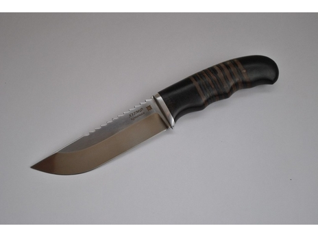 Нож Егерь (Х12МФ, рукоять граб, кожа)