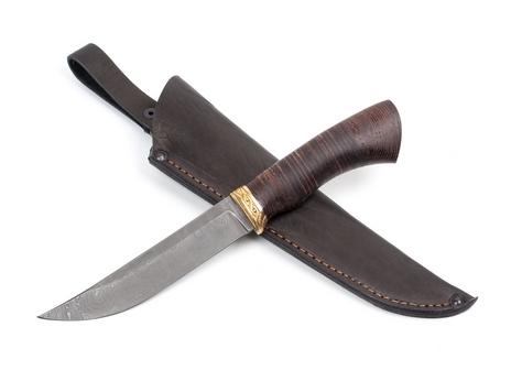 Нож Лань (дамаск, кожа,венге)