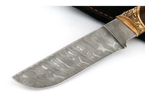 Нож Бобр (дамаск, рукоять Венге)
