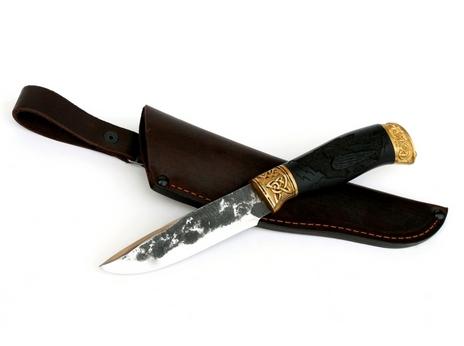 Нож Сурок (сталь Х12МФручная ковка, рукоять граб)