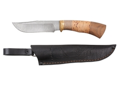 Нож Коршун (дамаск, рукоять венге, береста)