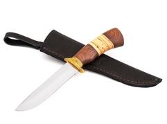 Нож Рысь (сталь 95Х18, рукоять венге, береста)