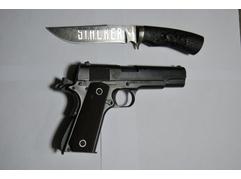 Нож Сталкер (дамаск, рукоять черное дерево)