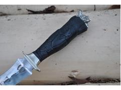 Нож Ведьмак (сталь х12мф, рукоять черное дерево,мельхиор)