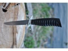 Нож Норвежский  ( сталь дамаск, рукоять граб)