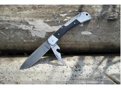 Складной нож 6 (сталь  дамаск, граб)
