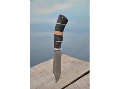 Нож Крот (дамаск, рукоять граб, кожа)