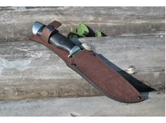 Нож Гепард (дамаск, рукоять кожа)