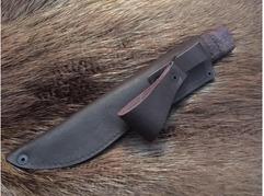 Нож Якутский (дамаск, рукоять стабилизированная карельская береза)