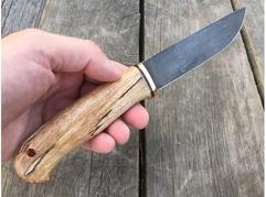 Нож Сурок  (сталь ХВ5, рукоять стабилизированный кап клена)