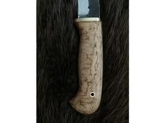 Нож Лань (сталь 95Х18, ручная ковка, рукоять карельская береза)