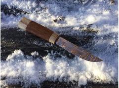 Нож Якутский (сталь х12мф, рукоять карельская береза, венге)