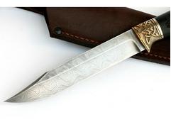 Нож Щука (дамаск, рукоять граб)