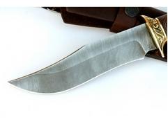 Нож Коршун (дамаск, рукоять венге, кожа)