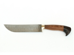 Нож Бахарман (дамаск, рукоять венге, черное дерево)