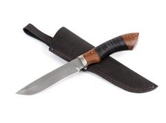 Нож Гепард (Х12МФ, рукоять венге, кожа, мельхиор)