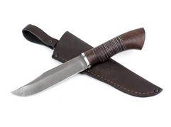 Нож Тигр (дамасская сталь, рукоять венге, кожа)
