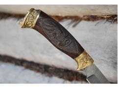 Нож Витязь (дамаск, рукоять Венге)