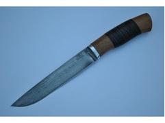 Нож Рысь (сталь ХВ5, рукоять венге, кожа)