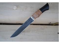 Нож Рысь (сталь Х12МФ, рукоять береста, граб)