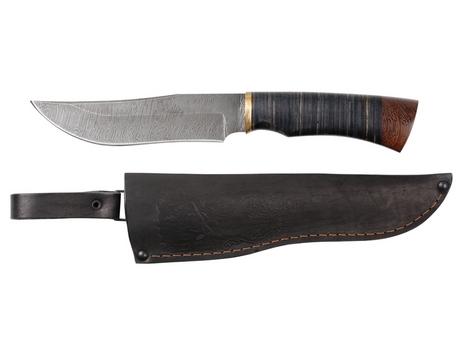 Нож Бухарский(дамаск, рукоять кожа, венге)