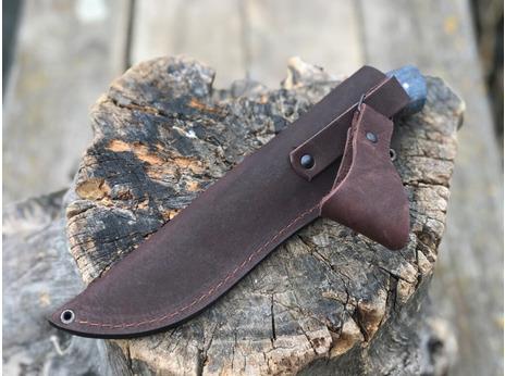Нож Лиса (сталь Х12МФ, рукоять стабилизированная карельская береза)