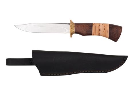 Нож Щука (сталь 95Х18, рукоять венге, береста)
