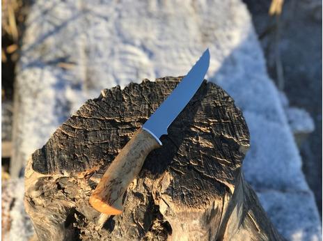 Нож Ягуар  (сталь 95Х18, рукоять стабилизированная карельская береза)
