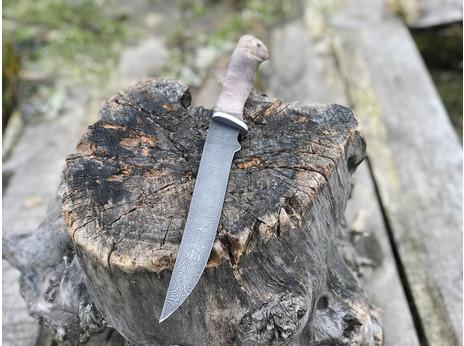 Нож Ягуар  (дамасская сталь, рукоять граб)