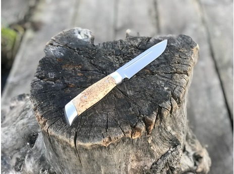 Нож Норвежский  ( Х12МФ, рукоять карельская береза)
