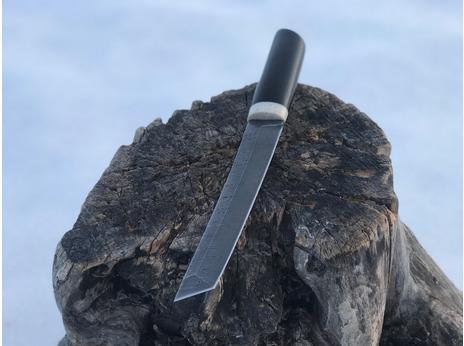 Нож Танто  (дамаск, рукоять граб)