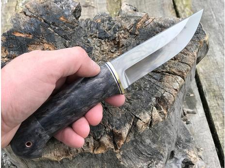 Нож Егерь (elmax, рукоять стабилизированная карельская береза)