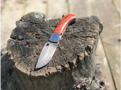 Складной нож Енот (сталь  дамаск, падук)